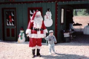 santa with little one