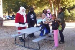 santa on grounds